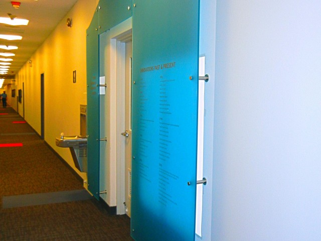 interior design of entrance to showroom